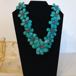 Turquoise and amethyst necklace.